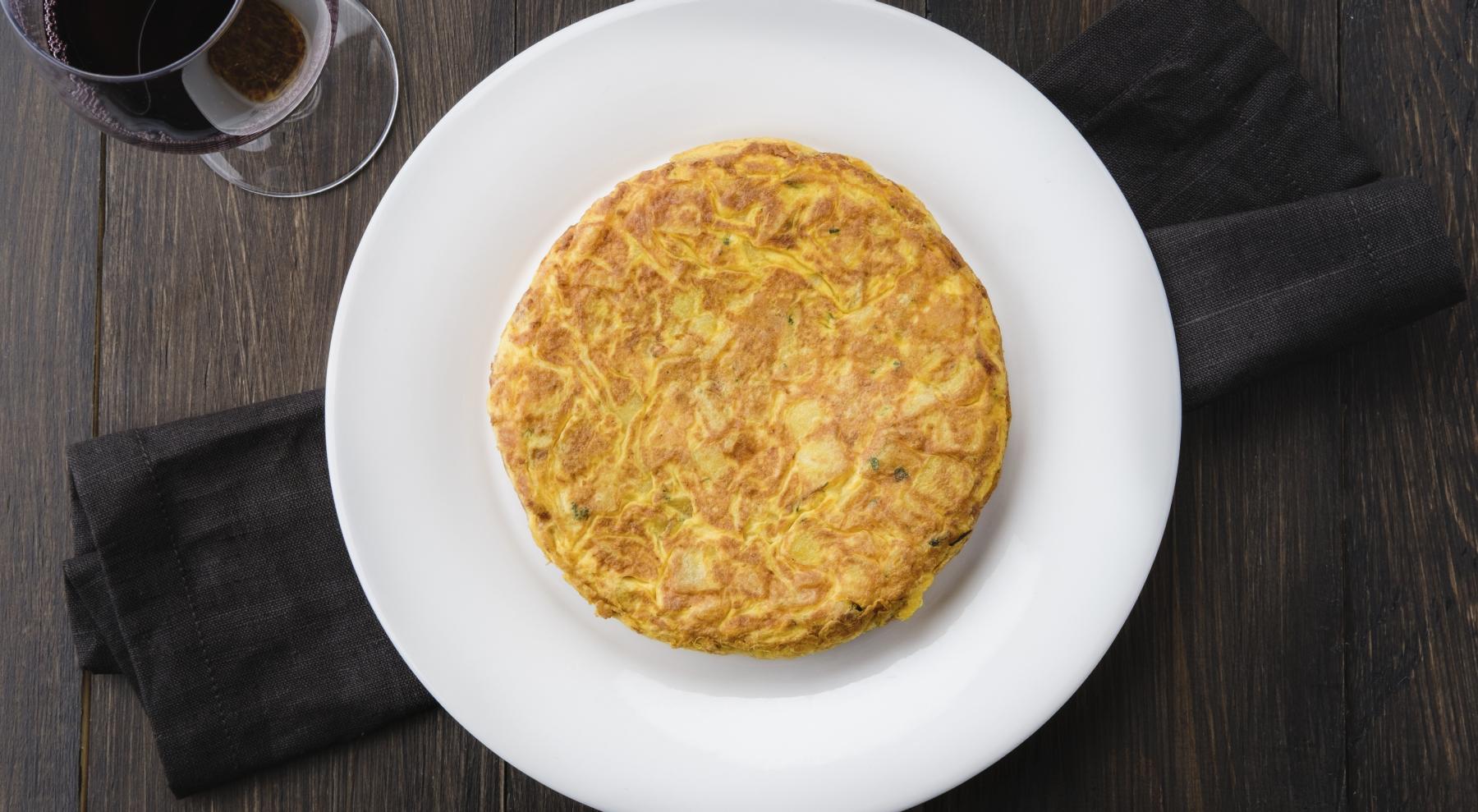 plato tortilla española