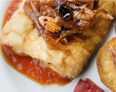 plato bacalao con batata frita